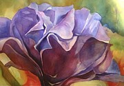 Carnation Painting Metal Prints - Blue Carnation 2 Metal Print by Sri Rao