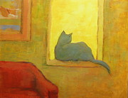 Alfons Niex - Blue cat at the window