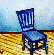 Decorating Mixed Media - Blue Chair by Venus Art