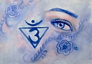 Blue Chakra Print by Rebecca Glaze