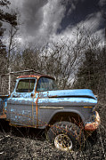 Old Trucks Photos - Blue Chevy Truck by Debra and Dave Vanderlaan
