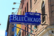 Jazz Singers Prints - Blue Chicago Club Print by Frank Romeo
