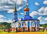 Siberia Digital Art - Blue Church by Yury Malkov