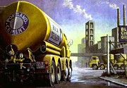 1960s Paintings - Blue Circle Foden by Mike  Jeffries