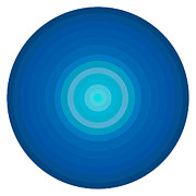 Gradient Prints - Blue Circles Print by Frank Tschakert