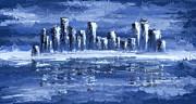 Blue City Print by Svetlana Sewell