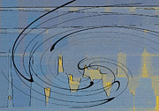 Blue Cityscape Print by Ben and Raisa Gertsberg