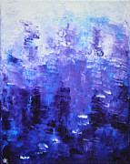 Abstract Expressionist Posters - BLUE CODE Blue Abstract Art by Chakramoon Poster by Belinda Capol