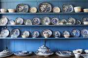Shelfs Prints - Blue Collection Print by Svetlana Sewell