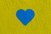 Heartfelt Framed Prints - Blue Coloured Heart Framed Print by Tim Gainey
