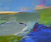 River Lewis - Blue Contemporary Water...