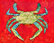 Blue Crab Mixed Media - Blue Crab #10 by Staci and Bill McLauchlan
