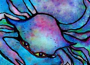Waiting Room Prints - Blue Crab Closeup Print by Eloise Schneider