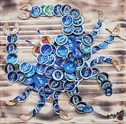 Blue Crab Mixed Media - Blue Crab by Kay Galloway