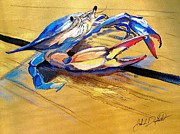 Blue Crab Paintings - Blue Crabbie  by John  Duplantis