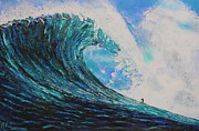 Green Monster Prints - Blue Crush v1 Print by RJ Aguilar