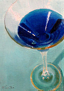 Martini Wall Art Paintings - Blue Curacao by Sarah Parks