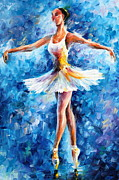 Dance Shoes Painting Posters - Blue Dance Poster by Leonid Afremov
