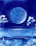 Marc Chambers Prints - Blue Desert Night Print by Marc Chambers