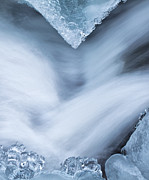 Ice Metal Prints - Blue Diamonds Metal Print by Darren  White