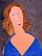 Modigliani Originals - Blue Diva by Bisai Ya