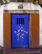 Santa Fe Photos - Blue Door at Old Santa Fe by Kurt Van Wagner