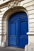 Door Sculpture Framed Prints - Blue Door Entrance - Paris Framed Print by Philip Sweeck