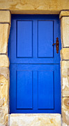 Sky Blue Framed Prints - Blue Door Framed Print by Frank Tschakert