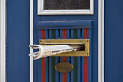 Blue Door Print by Heiko Koehrer-Wagner