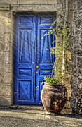 Jaffa Photos - Blue Door in Jaffa Israel by Ken Smith