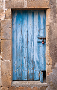 France Doors Posters - Blue Door Le Clapier France Poster by Deborah Gray Mitchell