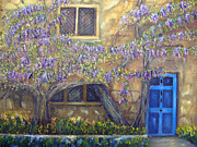 French Door Paintings - Blue Door by Loretta Luglio