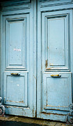 French Doors Prints - Blue Door - Paris Print by Philip Sweeck