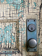 Doorknobs Prints - Blue Door Print by Robert Riordan