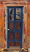Robert Handler Prints - Blue Door Wyoming Print by Robert Handler