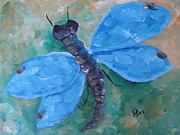Blue -dragonfly Print by Beverly Livingstone