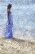 Poetic Tapestries Textiles - Blue Dream. Impressionism by Jenny Rainbow