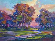 Painterly Originals - Blue Dusk by  David Lloyd Glover