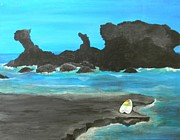 Lisa Bentley Art - Blue El Salvador by Lisa Bentley