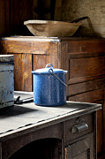 Lynn Palmer - Blue Enameled Pot