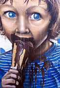 Sydney Photographs Prints - Blue eyes and Ice cream Print by Ben Bassey