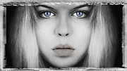 One Person Framed Prints - Blue Eyes Framed Print by Art Grafts