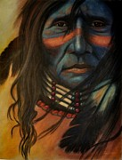 Culture Pastels - Blue Face by Wade Starr