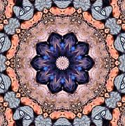 Blue Flora Mandala Print by Kristin Elmquist