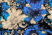 Blue Flower Abstract Print by Dave Bosse