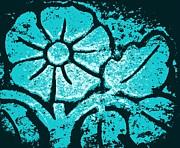 Blue Flower Print by Chris Berry