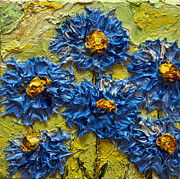 Paris Wyatt Llanso Metal Prints - Blue Flower Cluster II Metal Print by Paris Wyatt Llanso