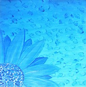 Jessie Art Art - Blue Flower by Jessie Art