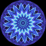 Kaleidoscope Originals - Blue Flower Kaleidoscope by Deborah Woehr