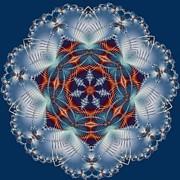 Blue Flower Print by Lena Kouneva